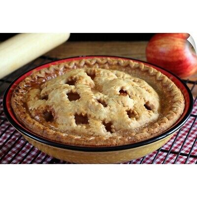 """Wall Decal """"home Baked Apple Pie On Cooling Rack With Apple And Rolling Pin"""""""
