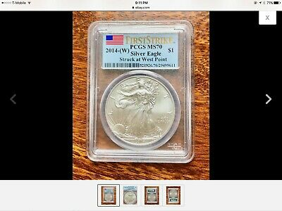 2014 W $1 1 Oz Silver Eagle Struck At West Point First Strike Pcgs Ms70