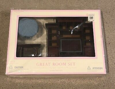 Hard To Find Rare Brand New Pottery Barn Kids Westport Dollhouse Great Room Set!