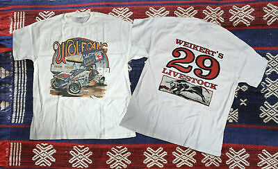Rarenew Doug Wolfgang 1985 Vintage Sprint Car White T-shirts