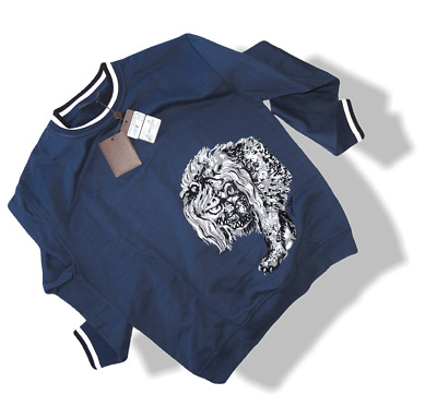 louis vuitton and chapman brothers velvet embroidered lion sweater