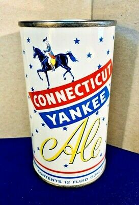 Connecticut Yankee Ale Flat Top Beer Can, Harvard, Lowell, Ma, Usbc 51-5