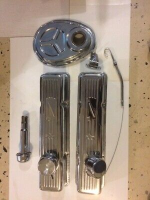 Sbc 327 Chrome Valve Covers, Timing Cover And More