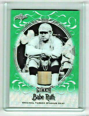 2019  Leaf Babe Ruth Collection #ys-02 Babe Ruth Yankee Stadium Seat Card 2/3