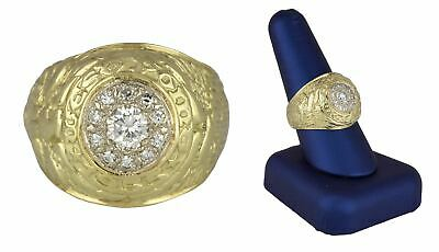 1955 Solid 18k Yellow Gold .70ctw Diamond West Point Military Academy Class Ring