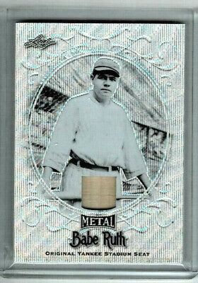 2019  Leaf Babe Ruth Collection #ys-39 Babe Ruth Yankee Stadium Seat Card 2/7