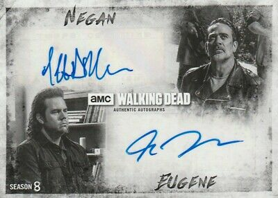 Walking Dead Season 8 Josh Mcdermitt Jeffrey Dean Morgan Dual Autograph Da-mm /5