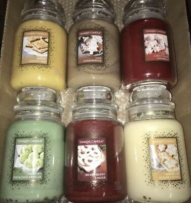 Yankee Candle Cookie Swap Set Of 6 22 Ounce Jars Crunchy Pistachio Vanilla More