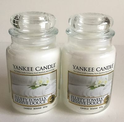 Yankee Candle Fluffy Towels Soy Wax Scented Candles 2 Count Piece Set