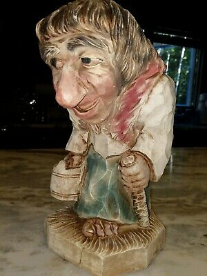 Large  Troll Made  In Norway Marked Figur Kunst