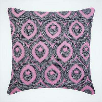 "Passion Palace - Pink Cotton Linen 14""x14"" Throw Pillow Covers"