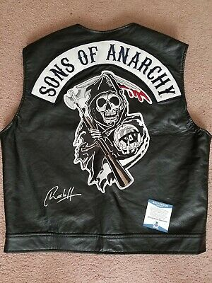 Charlie Hunnam Signed Sons Of Anarchy Replica Vest W/coa Beckett Autograph Jax