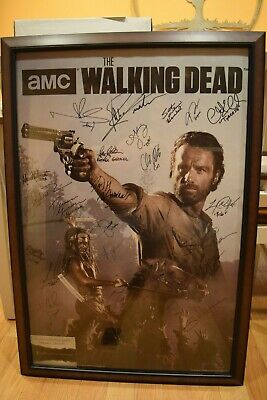 The Walking Dead Signed Poster Andrew Lincoln Norman Reedus Danai Gurira + More!