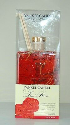 True Rose Yankee Candle Reed Glass Diffuser - 1 Bottle New