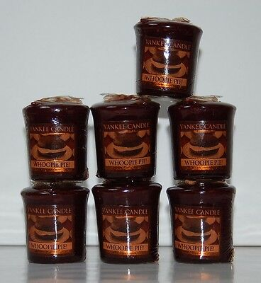Whoopie Pie!  Yankee Candle Votive Candles Lot Of 7 New Htf