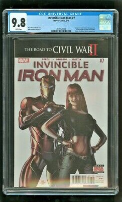 Cgc 9.8 Invincible Iron Man #7 Marvel Comics 2016 1st Tomoe Riri Williams (b)