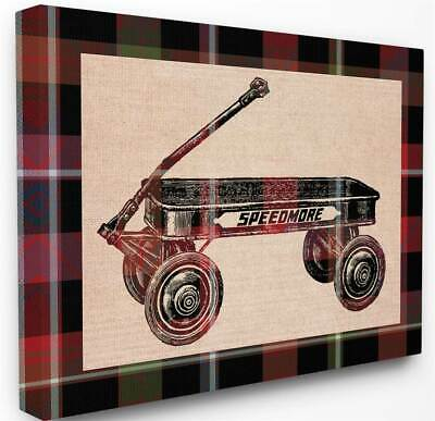 Radio Flyer Plaid Stretched Canvas Wall Art [id 3619738]