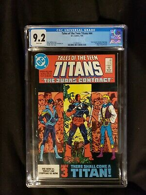 Tales Of The Teen Titans 44 Cgc 9.2 1st Nightwing Origin Of Deathstroke  jericho