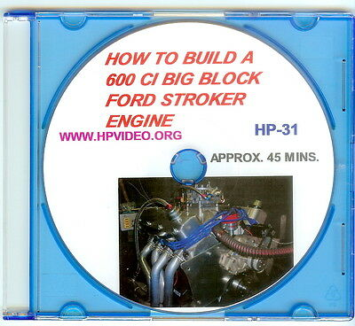 "Build A 600 Ci Big Block Ford Bbf 460 Stroker Engine Video Manual ""dvd"" 957 Hp!"