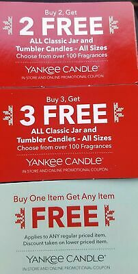 Yankee Candle Coupon Lot - Expires 12.24.2019