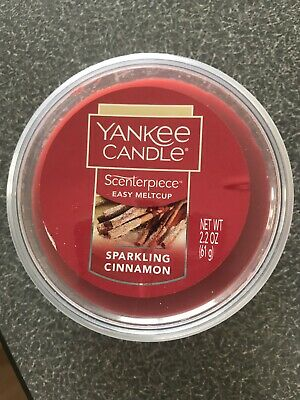 New Yankee Candle Sparkling Cinnamon Scenterpiece Easy Meltcup