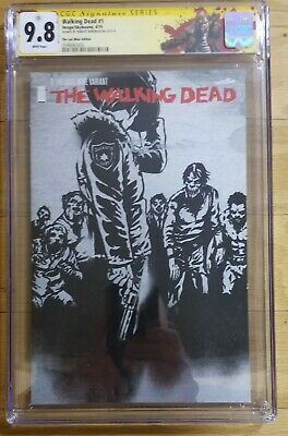 Walking Dead 1: The Last Wine Variant Cgc 9.8 Ss Signed Robert Kirkman