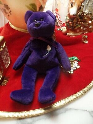 Ty Original Bear  Princess Diana 1997 Retired Beanie Baby