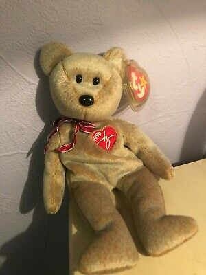 Ty Beanie Baby 1999 Signature Teddy Bear With Errors. Retired.