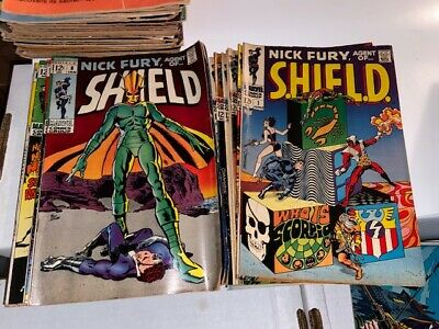 Nick Fury Agent Of Shield Lot - Complete Series Set W/issue #s 1-18, Steranko