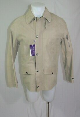 Ralph Lauren Purple Label Caleb Suede Calf Leather Jacket Size Small Nwd $5995