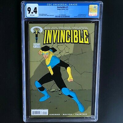 Invincible #1 (image 2003) 💥 Cgc 9.4 White 💥 1st Full Invincible