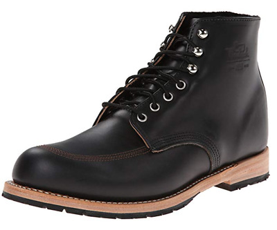 Woolrich Black Leather Yankee Ankle Boot - Size 9 - Wm3100-001