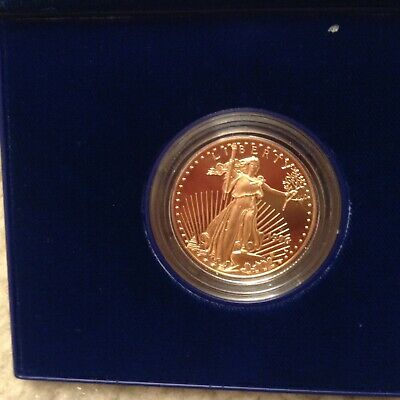 1996 W Gold $25 America Eagle Proof Coin 1/2 Oz  West Point