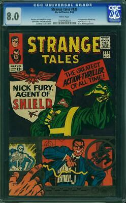 Strange Tales #135 Cgc 8.0 1st Nick Fury, Agent Of Shield! White Pages!