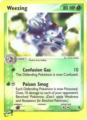 Pokemon Card - Ruby & Sapphire 24/109 - WEEZING (Non-holo) - NM/Mint