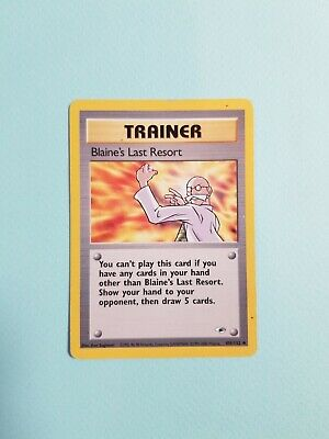 Pokemon TGC -- Gym Heroes -- Blaine's Last Resort -- 105/132 -- Excellent