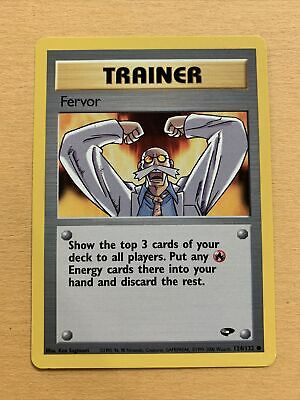 Pokemon Gym Challenge Trainer FERVOR 124/132 Common