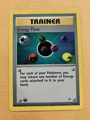 Pokemon Gym Heroes 1st Edition Trainer Energy Flow 122/132 Common