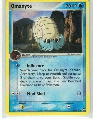 Pokemon Ex Power Keepers Omanyte Common 56/108 NM
