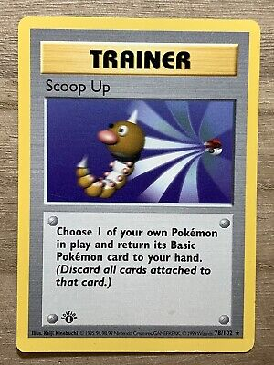 Scoop Up First Edition Shadowless Excellent Pokemon Base Set 78/102