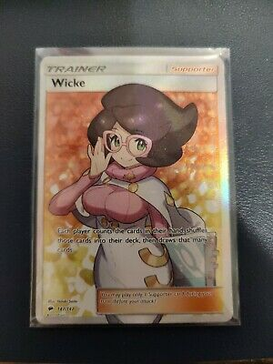 Wicke 147/147 Full Art Holo Ultra Rare Pokemon Burning Shadows