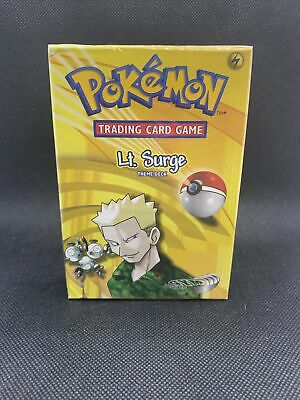 FACTORY SEALED Pokemon Lt. Surge Gym Heroes Theme Deck