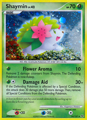 Shaymin (14) - 14 - Near Mint Holofoil - Platinum - Pokemon