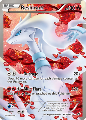Reshiram - RC22 - Moderately Played Holofoil - Legendary Treasures - Pokemon