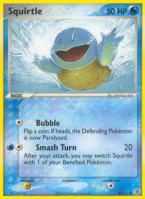 Squirtle - 83 - Near Mint - EX: FireRed & LeafGreen - Pokemon