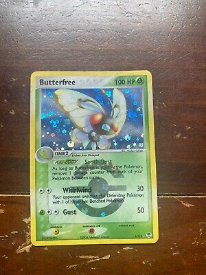 Butterfree Holo Pokemon Card 2/112 EX FireRed LeafGreen Mint