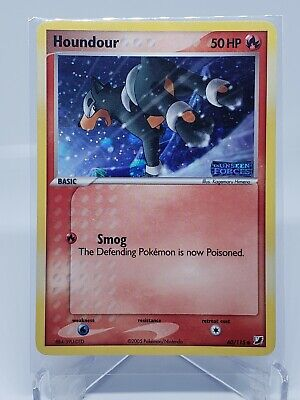 Houndour 60/115 Reverse Holo EX Unseen Forces Stamped Pokemon Card NM