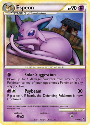 Espeon - 4 - Lightly Played Reverse Holofoil - Call of Legends - Pokemon