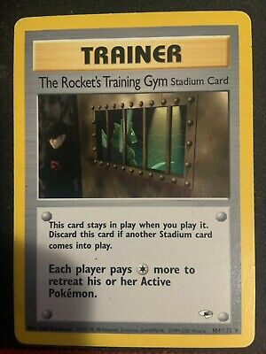Pokemon The Rocket's Training Gym Gym Heroes Unlimited 104/132 LP condition