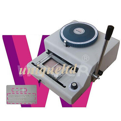 Pvc Id Cards Embosser Machine And + Indent Print 2in1